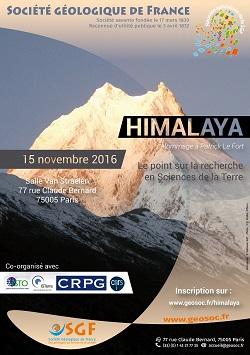 Himalaya - Le point sur la recherche en Sciences de la Terre