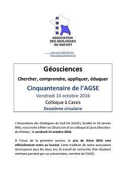 Cinquantenaire de l\'Association des Géologues du Sud-Est - Géosciences : chercher, comprendre, appliquer, éduquer