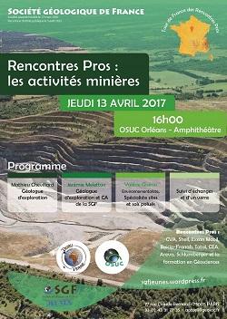 Rencontres Pros : les activités minières - Section Jeunes SGF
