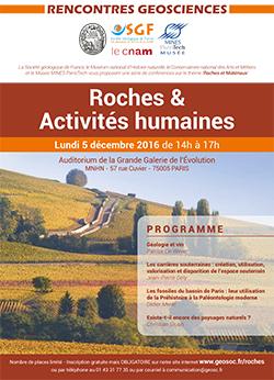 Rencontres Géosciences : Roches & Activités humaines - CNAM/MNHN/SGF/MINES ParisTech Musée
