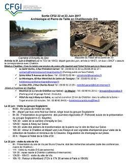 Sorties/Journées régionales CFGI - Archéologie et Pierre de taille en châtillonnais