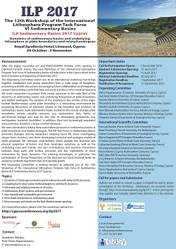 12th Workshop of the International Lithosphere Program Task Force VI Sedimentary Basins - ILP2017