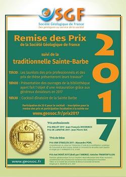 Remise des prix professionnels et de thèse 2017 et Sainte-Barbe de la SGF