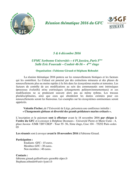 Réunion thématique du CGF