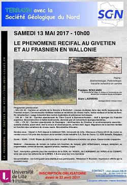 Le phénomène récifal au Givétien et au Frasnien en Wallonie