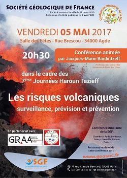 Conférence : Les risques volcaniques - surveillance, prévision et prévention - Agde