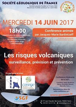 Conférence : Les risques volcaniques - surveillance, prévision et prévention - Marseille