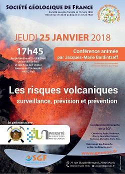 Conférence : Les risques volcaniques - surveillance, prévision et prévention - Pau