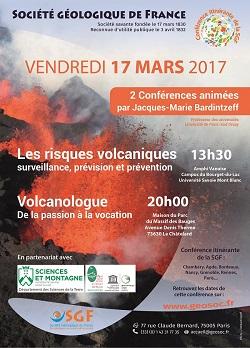 2 conférences : Les risques volcaniques & Volcanologue, de la passion à la vocation - Chambéry
