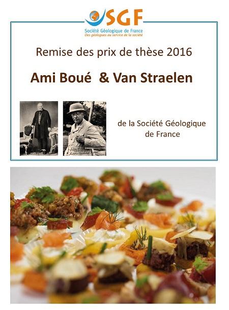 Remise des prix de thèse 2016 et Sainte-Barbe de la SGF