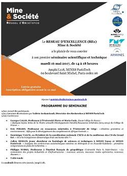 Séminaire scientifique et technique - Réseau d\'excellence Mine & Société