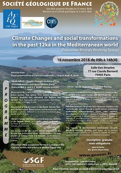 Climate Changes and social transformations in the past 12ka in the Mediterranean world