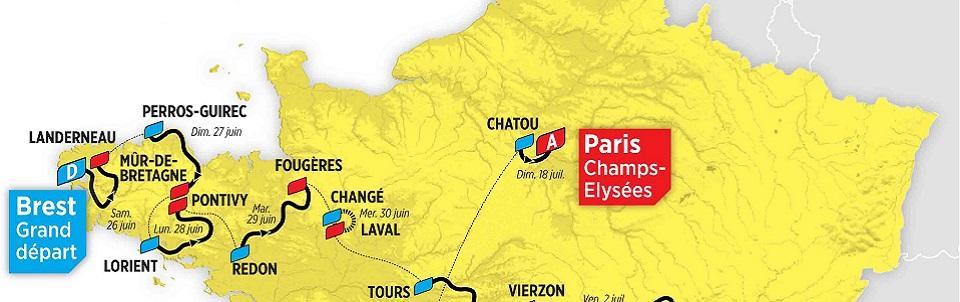 Retrouvez tous les commentaires géologiques du Tour de France lors des différentes étapes