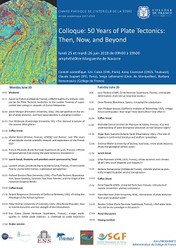 50 Years of Plate Tectonics : Then, Now, and Beyond