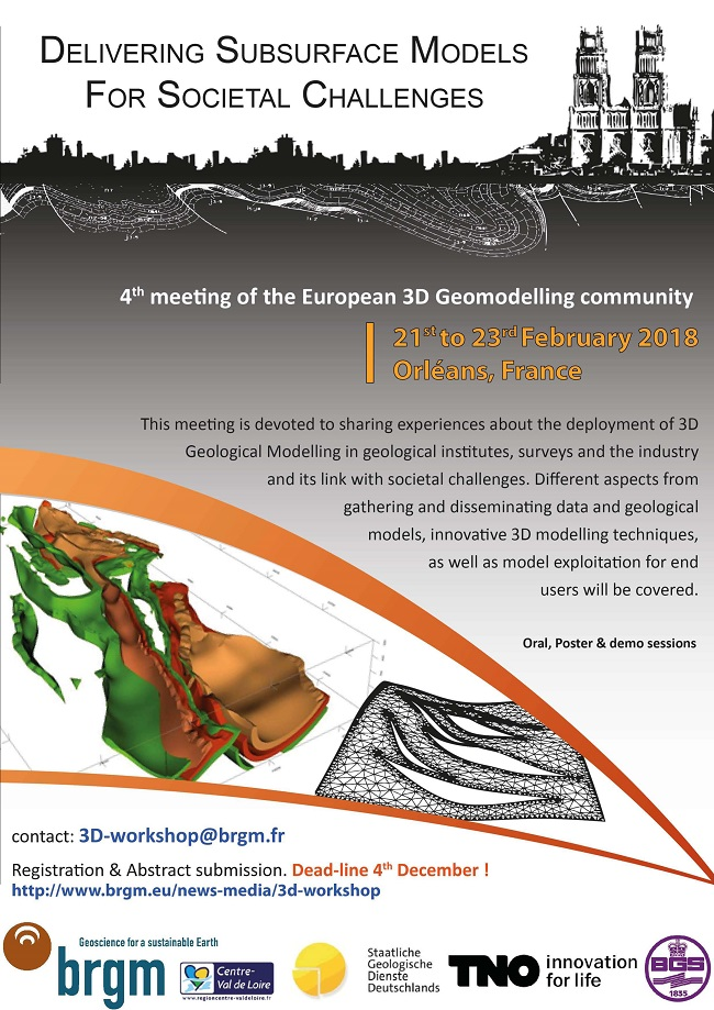 4th meeting of the European 3D GeoModelling Community