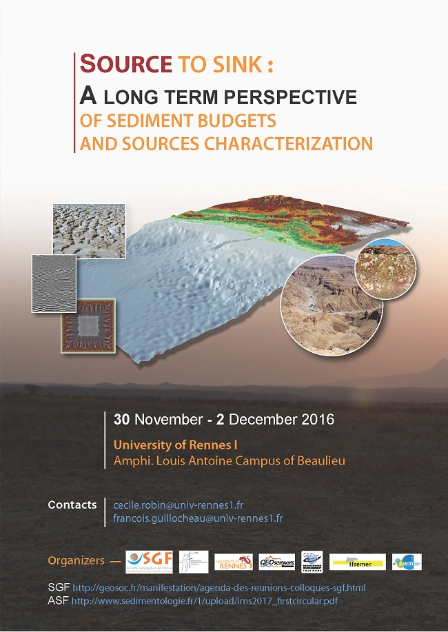 SOURCE TO SINK : A long term perspective of sediment budgets and sources characterization