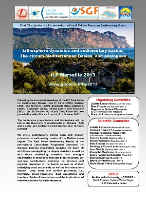 Lithosphere dynamics and sedimentary basins: The circum-Mediteranean Basins and analogues / Marseille